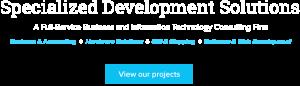 software solutions web development text